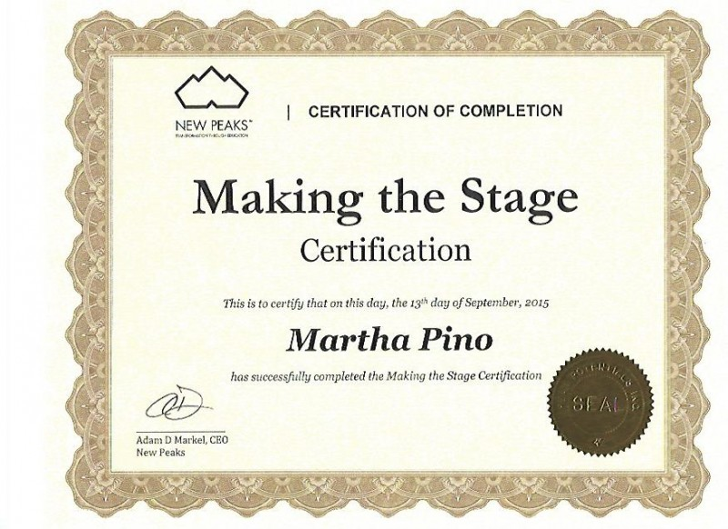 MP- Making The Stage Certificate